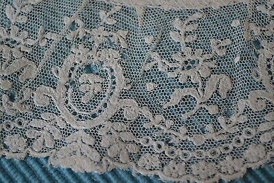LOVELIEST ANTIQUE EMBROIDERED NET LACE for FRENCH BEBE JUMEAU DOLL CLOTHES TRIM