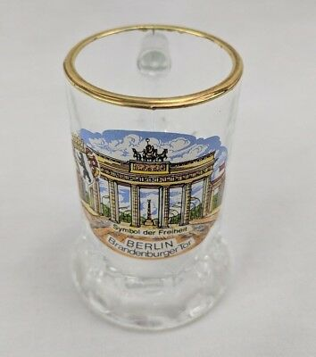 Berlin Brandenberg Gate Collectors Shot Glass Brandenburger Tor
