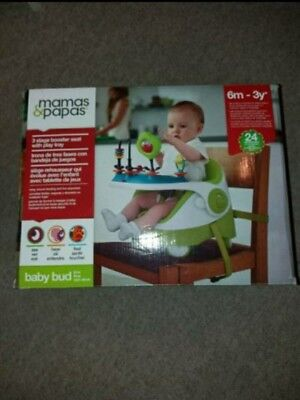 Mamas and papas Baby bud Booster seat, green+universal play tray