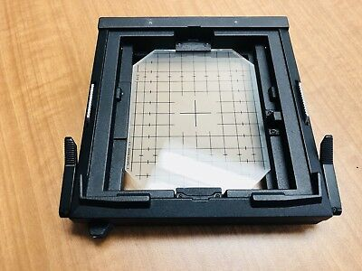 """Sinar 4x5"""" F1, F2 & P2 Groundglass Spring Metering Back With Original Glass. EX."""