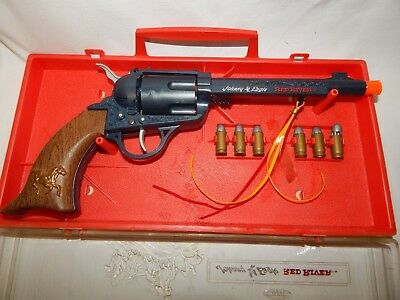 Vintage Johnny Eagle Red River Toy Gun & Case.( New Old Stock ) - Topper Toys.