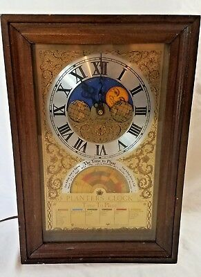 DELUXE Gold Fairfield Planting Clock Moon Phase + Zodiac Dials Repair or Parts