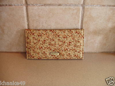 Longaberger Fall Vintage Floral Checkbook Cover Photo Insert Nip * Free Shipping