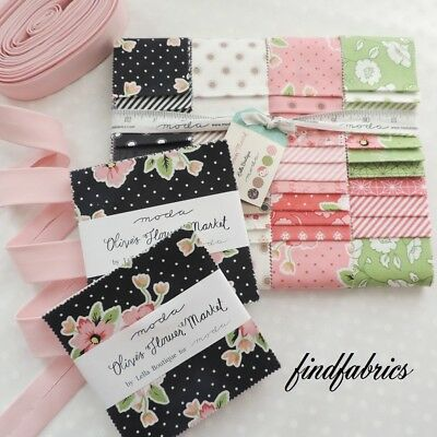 Oliver's Flower Market by Lella Boutique for Moda Fabrics Jelly Roll, Charm PacK