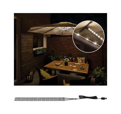 Paulmann Mobile Strip Parasol Schirm Beleuchtung IP44 4er-Set 40cm LED Stripe