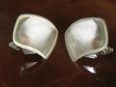 FORD SEIRRA MK 2 PAIR of FRONT CLEAR INDICATOR LENSES NEW NOS