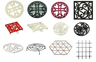 TRIVET Various Shape, Sizes & Colour Round,Square ,Cast-Iron,Coated, Chrome