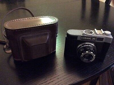 vintage Russian Cosmic 35, 35mm camera with case