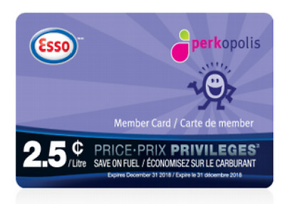 ESSO Price Privileges Discount Fuel Savings Card - Save 2.5 Cents/Litre on 2000L
