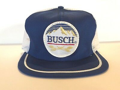 Vintage Swingster USA BUSCH BEER Snapback Mesh Trucker Patch Hat Cap