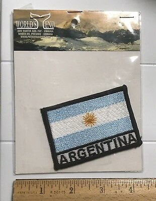 NIP Argentina Argentinian Flag Embroidered World's End South America Patch