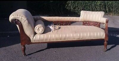 Antique Chaise Longue Better Model Being Double End Lot stronger