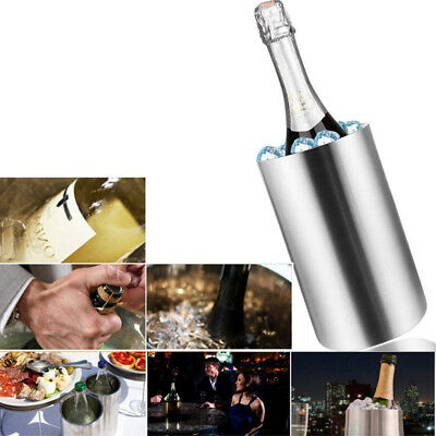 Stainless Steel Ice Bucket Champagne Wine Cooler with Handles Bar Pub Party