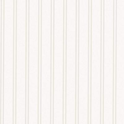 Super Fresco 56 sq. ft. 1 Double Roll Beadboard Paintable White Wallpaper