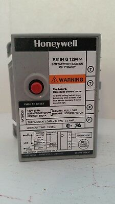 NEW Honeywell R8184G 1294 Oil Burner Primary Control 15 second R8184G1294