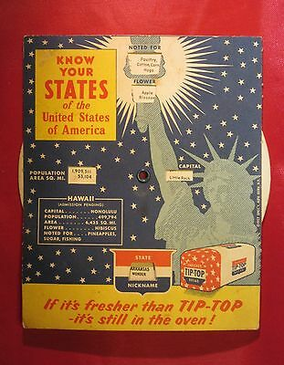 "VINTAGE 1957 Tip-Top Bread ""Know Your States"""