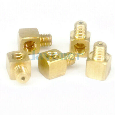 (5) Male to Female Elbow Brass Adapter Fitting Connectors For Lube Tubing