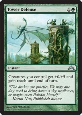 1x TOWER DEFENSE - Rare - gatecrash -  MTG - NM - Magic the Gathering
