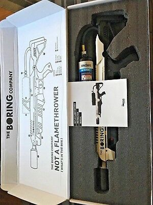 Boring Company Not A Flamethrower Manual w/ FREE novelty blowtorch (low serial#)