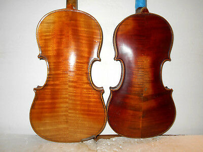 Vintage Lot of 2 Antique Old Full Size Violins - No Reserve