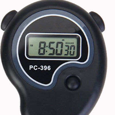 Digital Handheld Sports Stopwatch Stop Watch Time Clock Alarm Counter Timer S RS