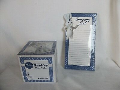 NIP PILLSBURY Doughboy Magnetic Grocery List & Memo Cube Sealed Pkgs  ~  1997