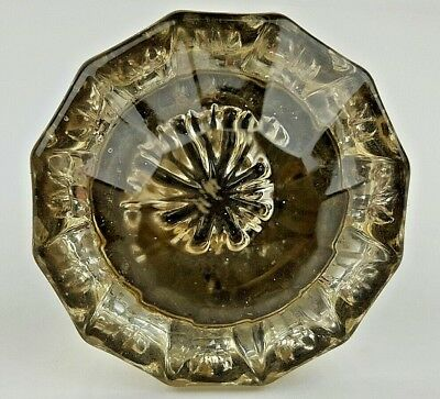 """Vintage 12 Point Clear Glass Door Knob Only No Hardware Salvaged Reclaimed 3/8"""""""