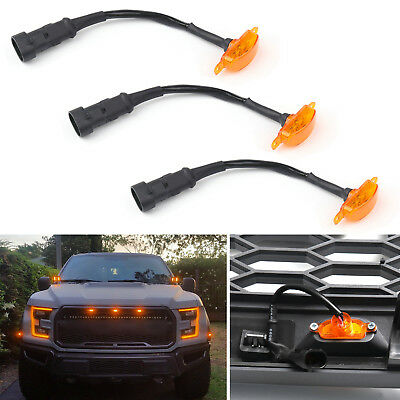 3PCS LED Light For FIT Ford F-150 F150 Raptor Style Grille Grill 2015-2017 BS1