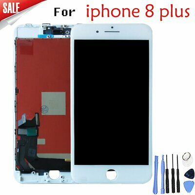For Apple iPhone 8 Plus LCD Display Screen Touch Digitizer Frame Assembly White