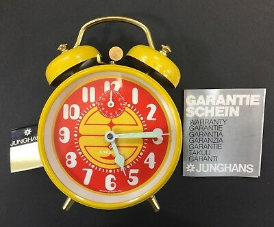 Vintage Junghans Alarm Clock, Mechanical, Made In Germany, Old Stock Brand New