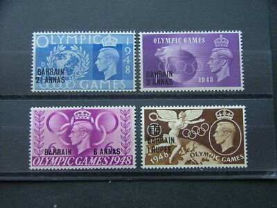 Bahrain 1948 Olympic Games Issue SG63-66 MM