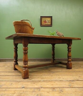 Solid Oak Refectory Table, Quality Dining or kitchen Table