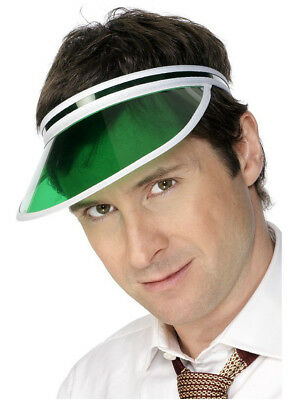 Green Tinted Classic Casino Poker Dealer Visor Hat Cap Costume Accessory