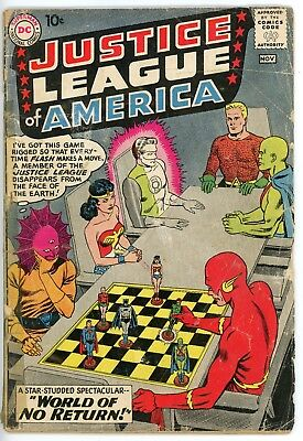 Justice League of America #1 (Oct-Nov 1960, DC) Key Issue.
