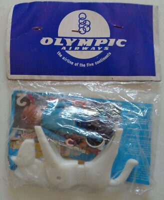 "Rare vintage Playmobil ""Olympic Airways"" promo ""Blue King on horse"" NEU NEW MIP"