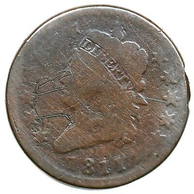 1811 Classic Head Large Cent Coin 1c