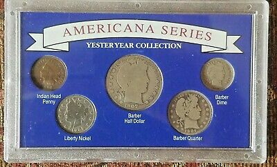 Americana Series Yester Year Collection 1907 Barber Half Dollar 5 Coins Set