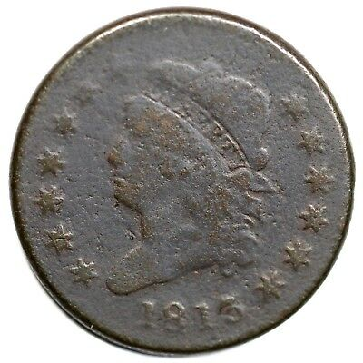 1813 Classic Head Large Cent Coin 1c