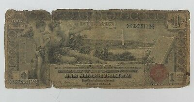 $1 1896 LARGE USA SILVER Certificate Educational Note Paper Money BILL Currency