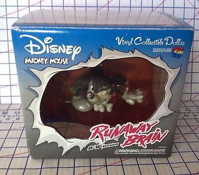"Mickey Mouse ""Runaway Brain"" Black And White Vinyl Figure By Medicom Toys"