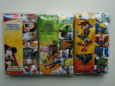 Disney Mickey Mouse Boys Training Pants Underwear Briefs Toddler 7-Pack 2T/3T-4T