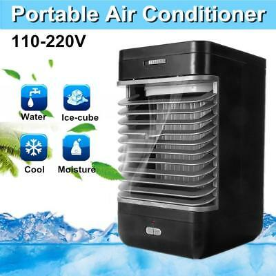 Portable Mini Air Conditioner Cooler Desk Fan Cooling Air Humidifier Freshener