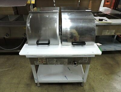 Duke WB302 Two Comp Steam Table W/ Roll Cover & Hose - LP