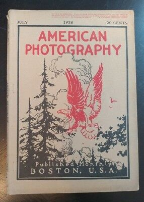 JULY 1918  AMERICAN PHOTOGRAPHY BOOK MAGAZINE Boston Mass camera ads