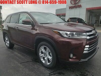 2018 Toyota Highlander New Highlander Limited AWD Sunroof New 2018 Highlander Limited AWD Navigation Heated Cooled Leather Sunroof Rouge