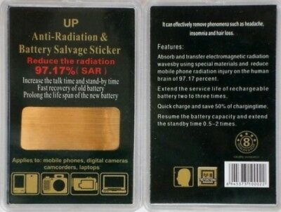 Anti Radiation EMF Protection & Battery Salvage Sticker /Shield for Cell Phone