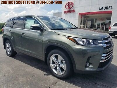 2018 Toyota Highlander New Highlander Limited AWD Sunroof Jade New 2018 Highlander Limited AWD Navigation Heated Cooled Leather Sunroof Jade