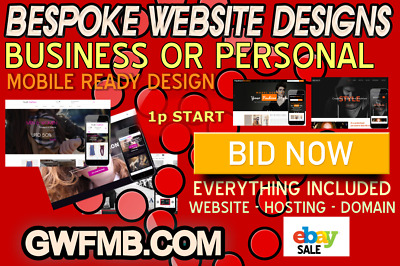 Website domain web hosting bespoke business or personal 5 page website design
