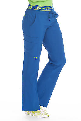"Activate by Med Couture Women's 8758 ""Flow"" Elastic Waist Cargo Scrub Pant"