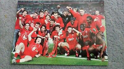 Liverpool 2005 Champions League Final Istanbul Team Pic Postcard Celebration!
